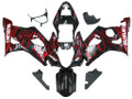 Fairings Suzuki GSXR 1000 Black & Red Flame Racing  (2003-2004)