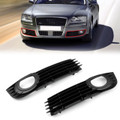 Front Lower Fog Light Bumper Grill Pair Audi A8 Quattro 06 07 08 4.2L 6.0L