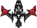 Fairings Yamaha YZF-R1 Black Red Tribal  R1 Racing (2002-2003)