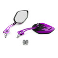 8MM 10MM Universal CNC Machined Mirrors Diamond Flame Purple
