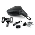 Detachable Adjustable Rider Driver Backrest Pad For Touring FLHT FLHX 09-15, Black