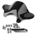 Universal MWindshield Windscreenotorcycle Cruiser  with Mounting kit