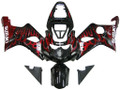 Fairings Suzuki GSXR 1000 Black & Red Flame Racing  (2000-2002)