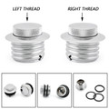 Flush Pop-Up Screw-in Fuel Gas Cap Cover Set Harley Davidson 82-UP stock-style vented screw-in cap Chrome