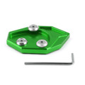 Kickstand Shoe Extension Plate Pad Side Stand Kawasaki ZX-14R ZZR1400 (07-14) GTR1400 CONCOURS 14 (08-14) Green
