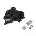 3D Flame Skull Horn Cover Harley V-Rod Sportster Dyna Black