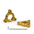 Fork Preload Adjusters Ducati 1098 17mm Gold