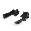 Front Left + Right Bumper Guide Fender Mount Bracket For Audi A4 B7 RS4 (06-08), Black