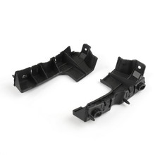 Front Left + Right Bumper Guide Fender Mount Bracket For Audi A4 B7 RS4 (06-08), Black