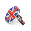 Front Grill Badge w/ Holder Union Jack UK Flag MINI Cooper R50 R55 R56