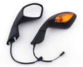 Mirrors Turn Signals Aprilia RSV 1000 (2004-2008) OEM Style Black