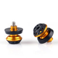 CNC 10mm Swingarm Sliders Spools Kawasaki KTM Gold