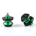 CNC 10mm Swingarm Sliders Spools Kawasaki KTM Green