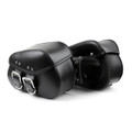 Saddle Bags Side Bags 2 Pcs Set Motorcycle Harley Davidson Softail Models Black
