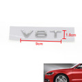 V8T Emblem Badge AUDI A1 A3 A4 A5 A6 A7 Q3 Q5 Q7 S6 S7 S8 S4 SQ5 Chrome