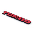 3D Aluminum Emblem Badge Sticker Decal Turbo Red