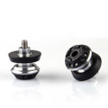 CNC 10mm Swingarm Sliders Spools Kawasaki KTM Silver