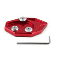 Kickstand Shoe Extension Plate Pad Side Stand Kawasaki ZX-14R ZZR1400 (07-14) GTR1400 CONCOURS 14 (08-14) Red