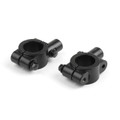 "Motorcycle 7/8"" HandleBar 10MM Thread Mirror Mount Holder Clamp Adaptor Black"