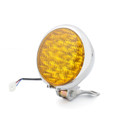 "Motorcycle Headlight 5"" LED Head Lamp Harley Bobber Chopper Touring CHR YEL"