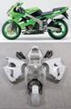 Fairings Plastics Kawasaki ZX6R 636 Green ZX6R Racing (2000-2002)