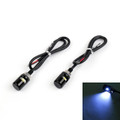 LED License Plate Bolts Tag Illumination Lights Universal Fit, 2 pcs Black