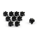 10 x Fairing Bolts M6 6mm Aluminium Spire Speed Fastener Clips Spring Nuts, Black