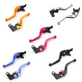 Shorty Adjustable Brake Clutch Levers Kawasaki ZX6R ZX636R ZX6RR 2000-2004