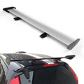 Universal Hatch Adjustable Aluminum GT Rear Trunk Wing Racing Spoiler, Silver 13