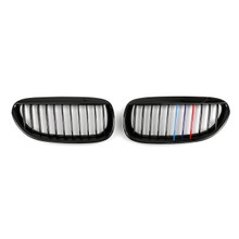 Front Grille For BMW E63 E64 LCI M6 Convertible Coupe 630, M-color Shiny Black