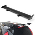 Universal Hatch Adjustable Aluminum GT Rear Trunk Wing Racing Spoiler, Black 13