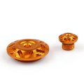 Right Crankcase 45mm Cap Oil Filler Cap Set Honda CBR600RR CBR1000RR CBR 919 929 954 RR CB Hornet CBF 600 1000, Gold