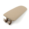 PU Leather Center Console Armrest Cover Lid For Audi A4 B6 B7 02-08