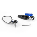 """7/8"""" Aluminum Rear View Side Mirror Handle Bar End Universal Motorcycle, Blue"""