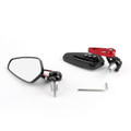 """7/8"""" Aluminum Rear View Side Mirror Handle Bar End Universal Motorcycle, Red"""