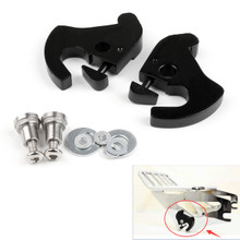 Rotary Latch Latches Kit With Locks For Harley Sissy Bar Luggage Rack Softail Black