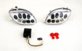 Front Indicators Flush Mount LED Turn Signals Suzuki Hayabusa GSX1300R (1999-2007), Clear