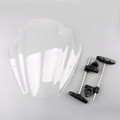 "Universal Windshield Windscreen 7/8"" & 1"" Handlebar Mount BMW Yamaha KTM, Clear"