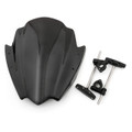"Universal Windshield Windscreen 7/8"" & 1"" Handlebar Mount BMW Yamaha KTM (WIN-013-Black)"