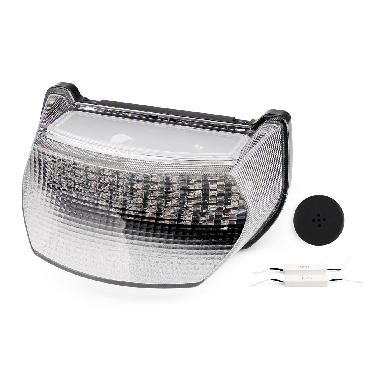 Mad Hornets Integrated LED TailLight Turn Signals for Kawasaki EX250//Ninja 250R 2008-2012 Clear