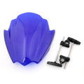 "Universal Windshield Windscreen 7/8"" & 1"" Handlebar Mount BMW Yamaha KTM, Blue"