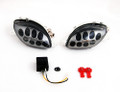 Front Indicators Flush Mount LED Turn Signals Suzuki Hayabusa GSX1300R (1999-2007), Smoke