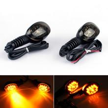 Front Rear LED Turn Signals Blinker Indicator Amber Kawasaki NINJA 250R 08-12 Smoke
