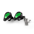 Frame Sliders Crash Pads Protector Left Right Kawasaki Ninja ZX10R (11-16), Green