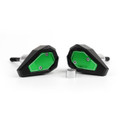 Frame Sliders Crash Pads Protector Kawasaki ZX6R (2013-2015), Green