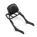 Sissy Bar Backrest with Luggage Rack Kawasaki Vulcan S 650 VN650 (2015-2016), Black