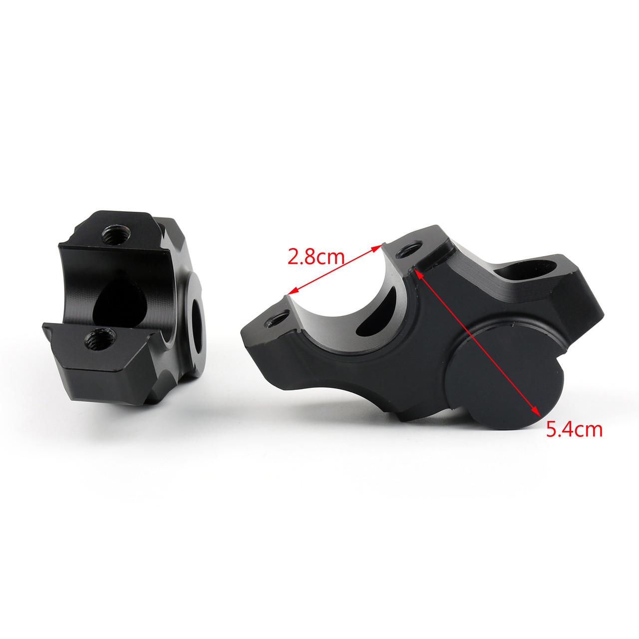 15mm Riser Handlebar Higher Extend Adapter Yamaha MT-09 FZ-09 XSR900, Black
