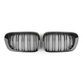 Kidney Grilles Double Rib BMW E46 3 Series Coupe 2 Door (1998-2001), Black