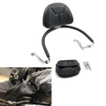 Outside Mount Mustang Drivers Backrest Honda GL1800A GL1800 Gold Wing, Black