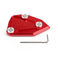 Side Pad Kickstand Stand Extension Plate BMW C600 SPORT C650 GT (2012-2015), Red